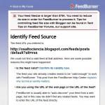 Ошибка регистрации в Feedburner