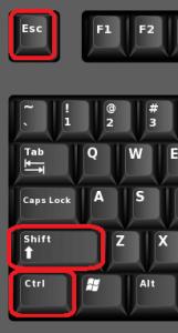 горячие клавиши диспетчера задач
